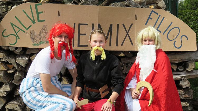 Asterix und Obelix am Wochenendlager